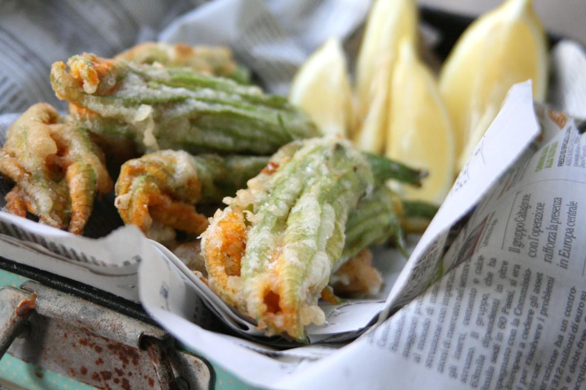 how to make zucchini flowers stuffed